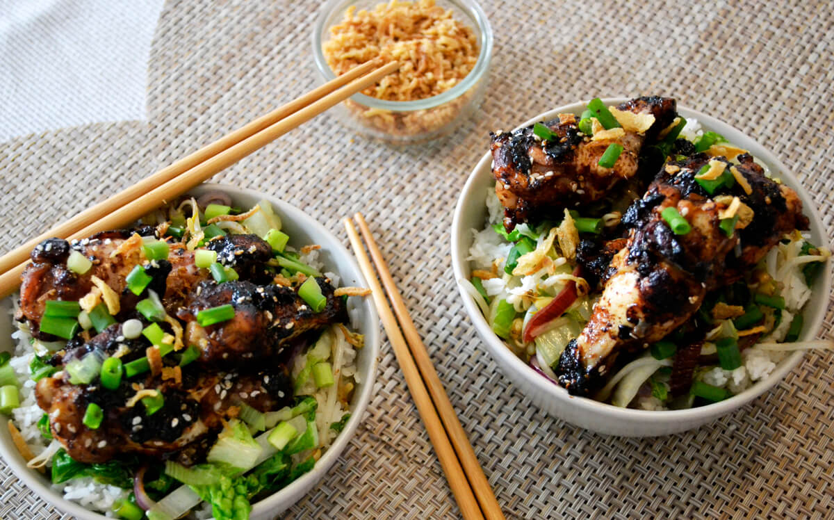 Asian Chicken Rice Bowl Recipe